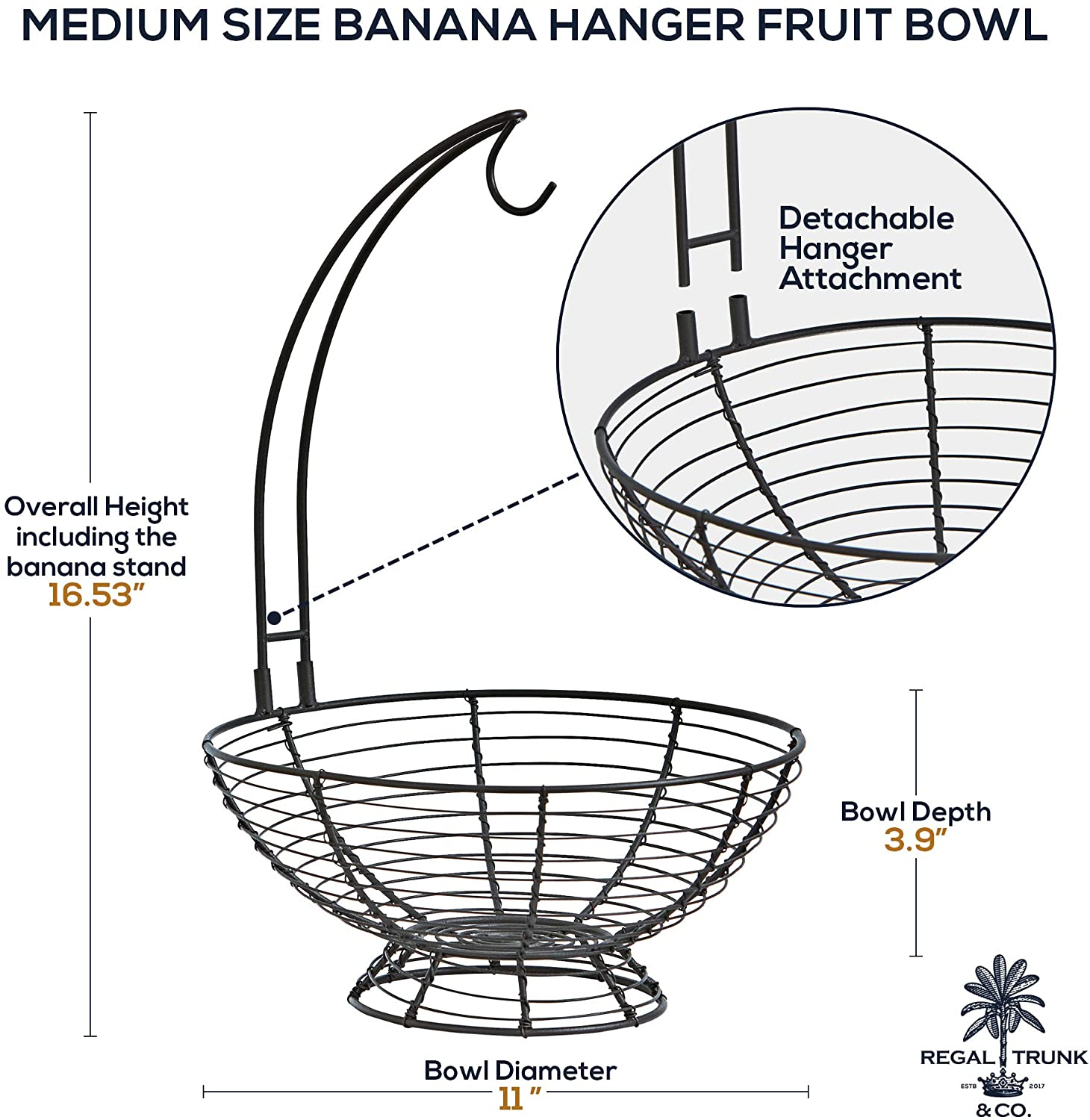 Fruit Basket With Banana Hanger medium size