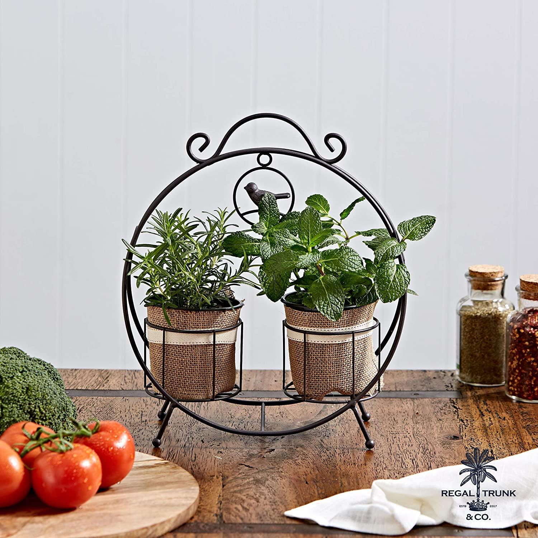 2 Pot Plant Stand regal trunk