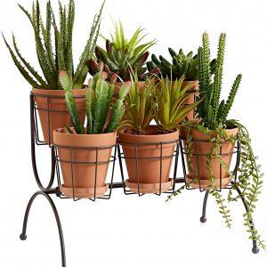 6 pot plant stand