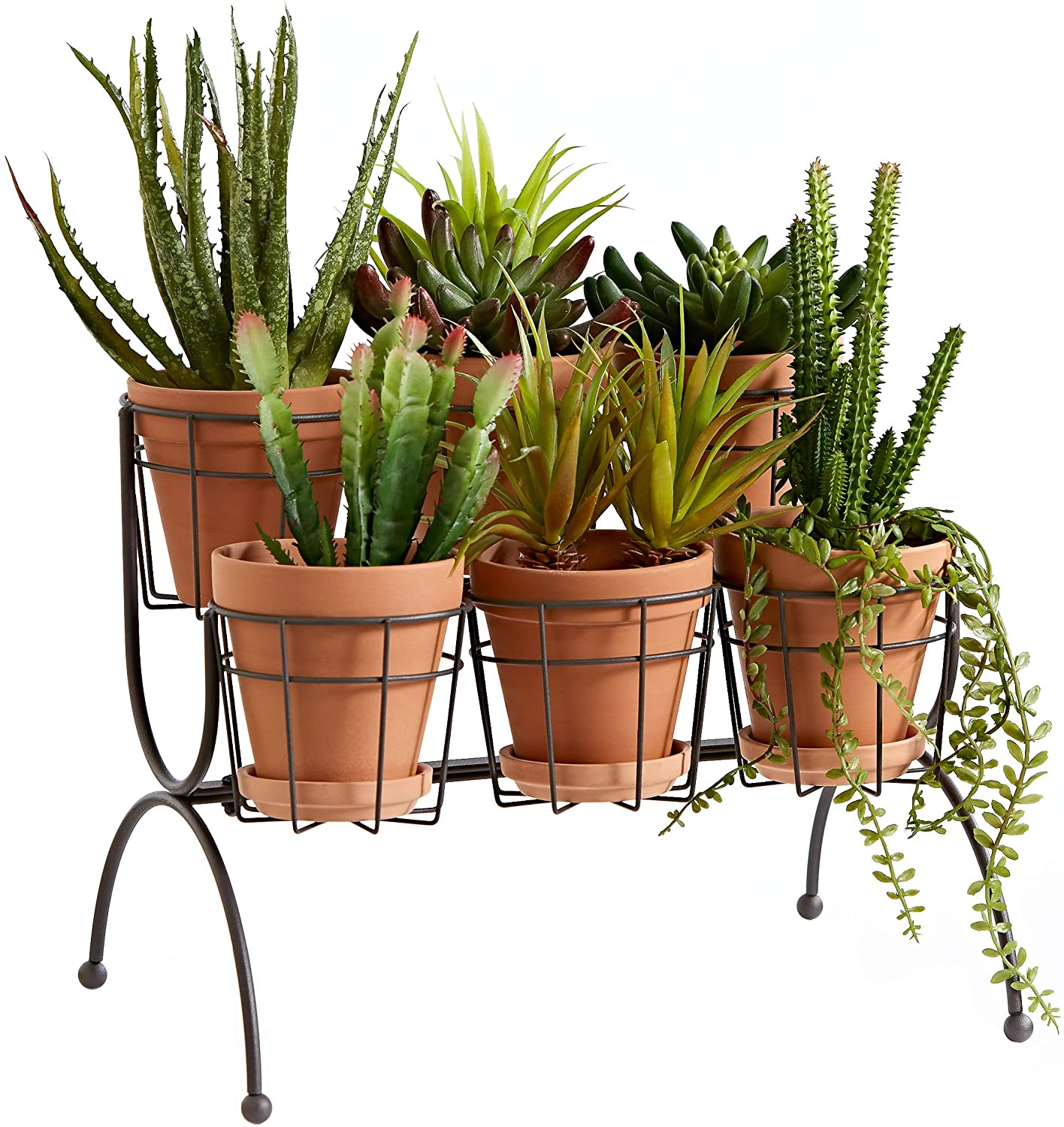 6 pot plant stand