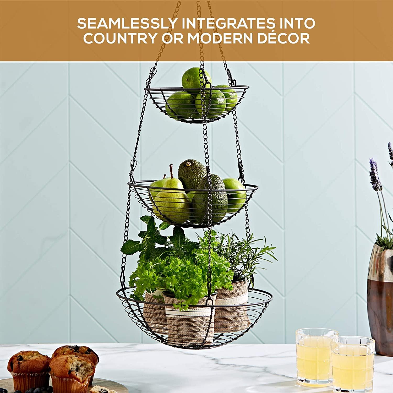 Three Tier Wire Hanging Basket