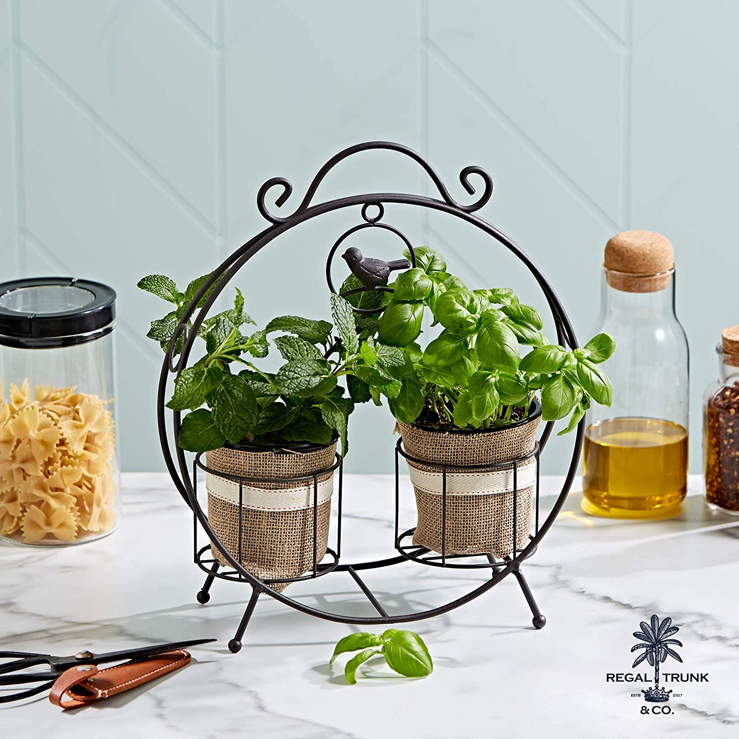 Two Pot Plant Stand